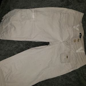 Junior khaki capris